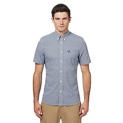 Fred Perry - Blue gingham check short sleeve shirt