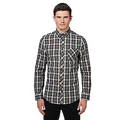 Ben Sherman - Navy checked shirt