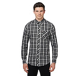 Ben Sherman - Big and tall black checked shirt