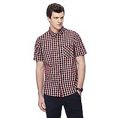 Jacamo - Big and tall dark red checked shirt