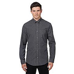 Ben Sherman - Big and tall dark grey checked shirt