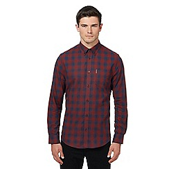 Ben Sherman - Big and tall red ombre-effect checked shirt