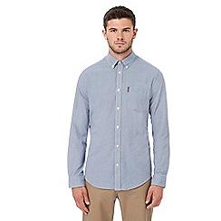 Ben Sherman - Big and tall blue gingham print shirt