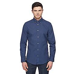 Ben Sherman - Big and tall navy arrow print long-sleeved shirt