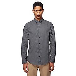 Ben Sherman - Black arrow print long-sleeved shirt