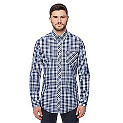 Ben Sherman - Blue tartan check long sleeve shirt
