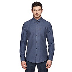 Ben Sherman - Dark blue twisted stitch plain shirt