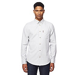 Ben Sherman - Big and tall white twisted stitch plain shirt