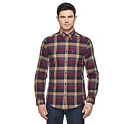 Ben Sherman - Red buffalo check long sleeve shirt