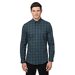 Ben Sherman - Green ombre-effect checked shirt