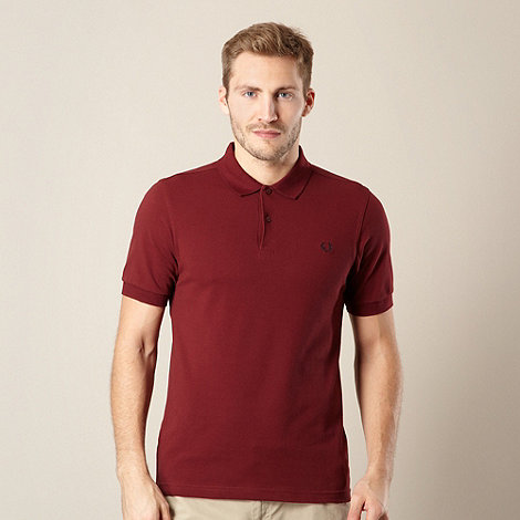 Fred Perry - Wine pique polo shirt