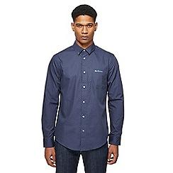 Ben Sherman - Navy polka dot long sleeve shirt