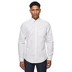 Ben Sherman - White polka dot long sleeve shirt