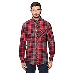 Ben Sherman - Red tartan check long sleeve shirt