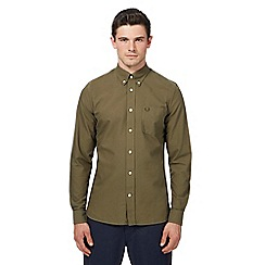 Fred Perry - Green Oxford long sleeve shirt