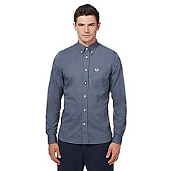 Fred Perry - Dark blue Oxford long sleeve shirt