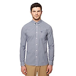 Fred Perry - Blue gingham check long sleeve shirt