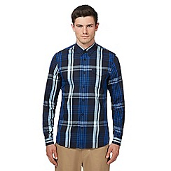 Fred Perry - Navy twill checked shirt