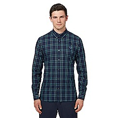 Fred Perry - Navy tartan check long sleeve shirt