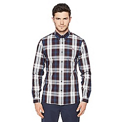 Fred Perry - Maroon bold checked shirt