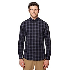 Fred Perry - Black winter tartan print long sleeve shirt