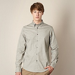 Ben Sherman - Big and tall grey two tone letter print shirt