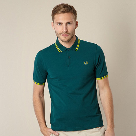 Fred Perry - Dark green slim fit polo shirt