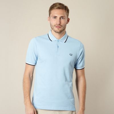 Fred Perry light blue slim tipped polo shirt