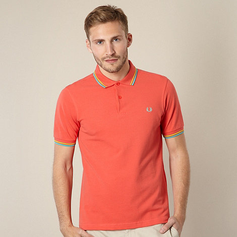 Fred Perry - Coral slim tipped polo shirt