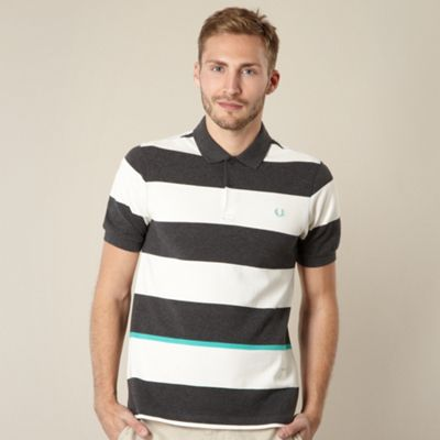 Fred Perry white wide striped polo shirt
