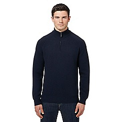 Ben Sherman - Navy wool rich funnel neck sweater