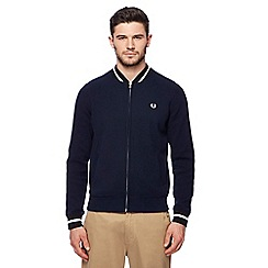 Fred Perry - Navy knitted bomber jacket