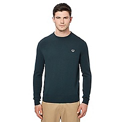 Fred Perry - Green Merino wool crew neck jumper