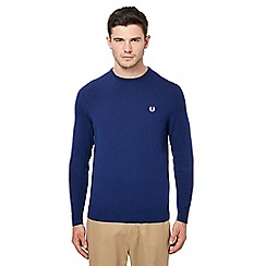 Fred Perry - Blue Merino wool crew neck jumper