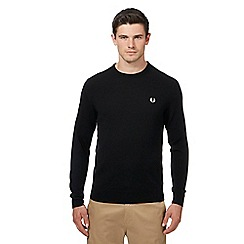 Fred Perry - Black Merino wool crew neck jumper
