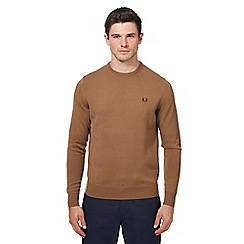 Fred Perry - Tan Merino wool crew neck jumper