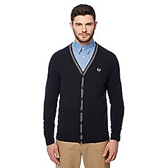 Fred Perry - Navy knitted cardigan