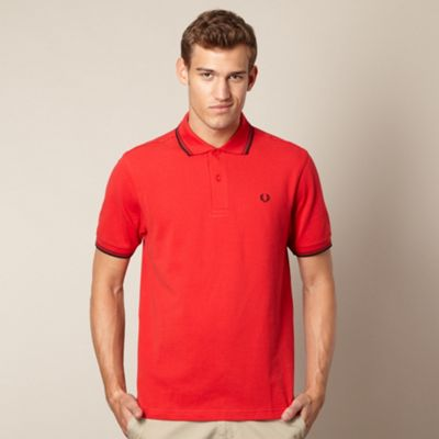 Fred Perry red twin tipped polo shirt