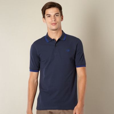 Fred Perry navy double tipped polo shirt