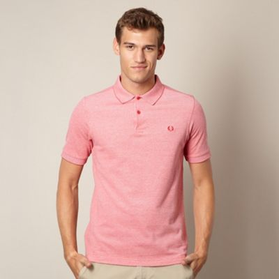 Fred Perry red oxford polo shirt