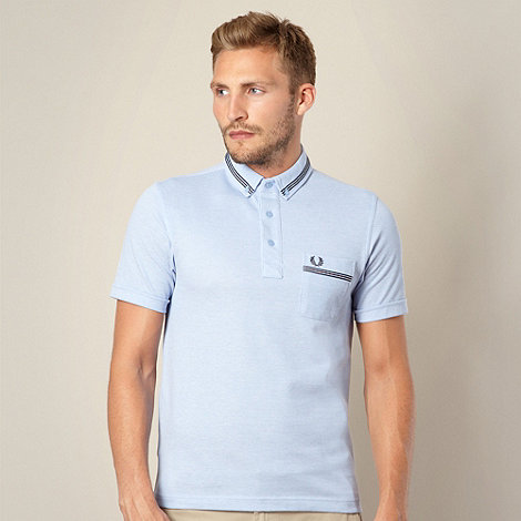 Fred Perry - Light blue pique polo shirt