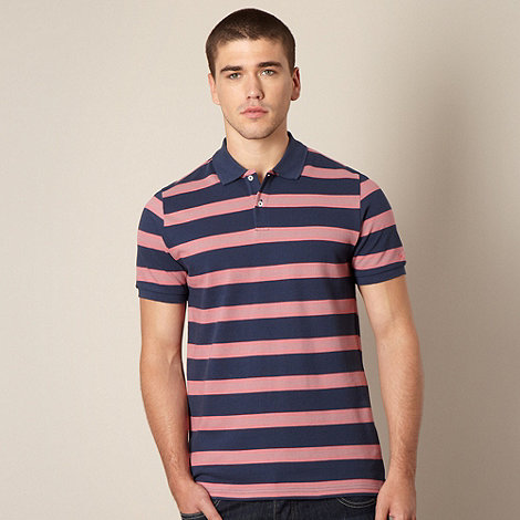 Ben Sherman - Pink and blue striped polo shirt