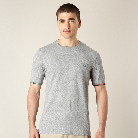 Fred Perry - Grey pique jersey t-shirt