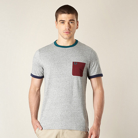 Fred Perry - Grey contrasting pocket t-shirt