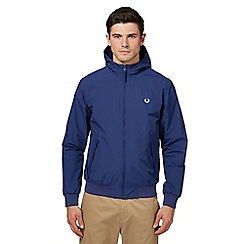 Fred Perry - Blue hooded 'Brentham' jacket