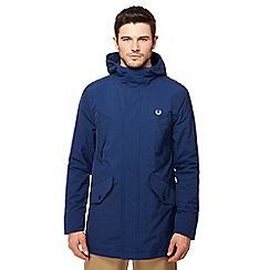 Fred Perry - Blue 'Portwood' hooded jacket