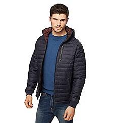 Threadbare - Navy 'Glendale' quilted jacket