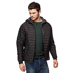 Threadbare - Black 'Glendale' quilted jacket