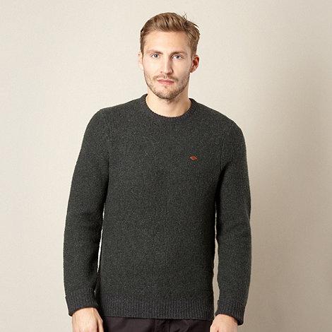 Farah 1920 - Grey jacquard knit jumper