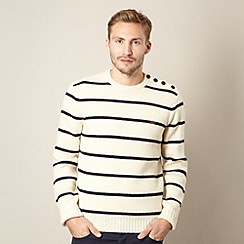 Farah 1920 - Cream breton striped wool jumper